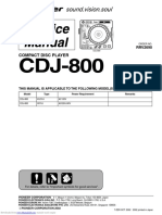 Pioneer CDJ 800 Service Manual