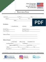 Reservation Form & Agreement
