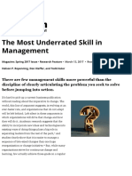 The Most Underrated Skill in Management
