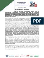 Eisspeedway Berlin 2018, Pressemitteilung 180122