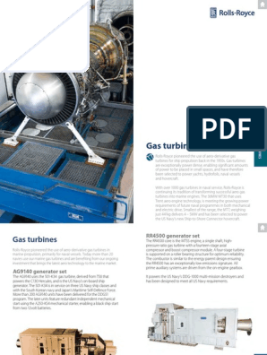 Gas Turbines Rolls Royce | Gas Turbine | Marine Propulsion