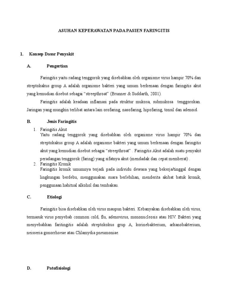 Sak Pada Pasien Faringitis