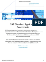 SAPS - SAP Sizing Benchmark Https Www.sap.Com About Benchmark