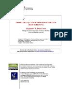 Fronteras y Conceptos Fronterizos Desde La Historia Alejandro Díez Torre 2016