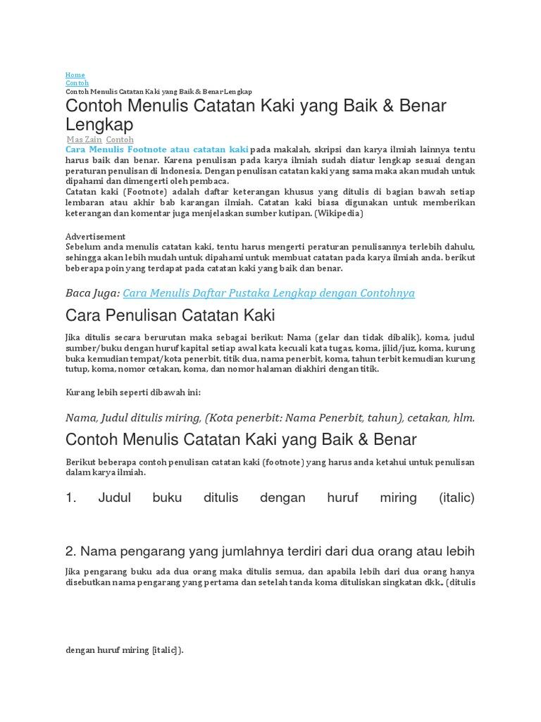Catatan Kaki