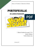 Portofoliu Franceza