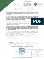 Petición de la dimisión de Antonio María Sáez Aguado por parte del alcalde de Puebla de Sanabria