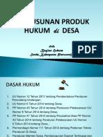 Penyusunan Produk Hukum Di Desa (2016)