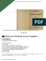 Histoire de l'AntiquiteÌ_. [Livre] _ EugeÌ€ne Cavaignac