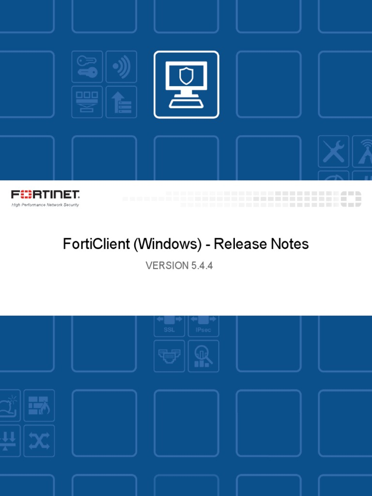Forticlient 5 4 4 Windows Release Notes | Transport Layer