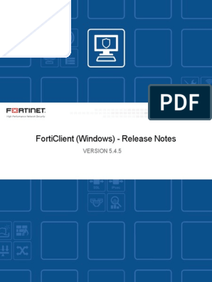 Forticlient 5 4 5 Windows Release Notes(1) | Transport Layer