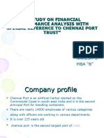 A Study on Financial Performance Analysis With