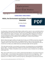 NGOs, The Environment and Political Pluralism in New Order I