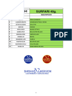 Listado de Sabores de Shisha