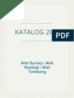 Katalog Alat Survey, Alat Geologi, Alat Tambang