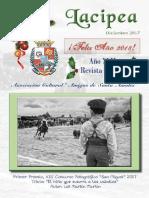LACIPEA. REVISTA DE SANTA AMALIA. PORTADA Y SUMARIO DEL ÚLTIMO NÚMERO DICIEMBRE/2017