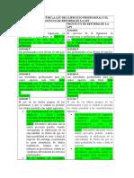 DIFERENCIAS ENTRE LA LEY DEL EJERCICIO PROFESIONAL Y EL PROYECTO DE REFORMA DE LA LEY.docx
