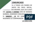 Comunicado 2017