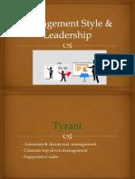 management style   leadership
