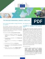 The Revised Energy Renewable Energy Directive