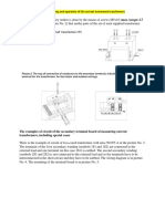 The Instruction for the Mounting and Operation of the Current Instrument Transformers