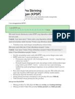 Kuesioner Pra Skrining KPSP
