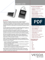 VESDA LCD Programmer TDS A4 Spanish Lores