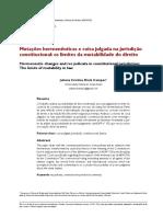 Campos, Juliana. Mutações Hermenêuticas e Coisa Julgada Na Jurisdição Constitucional - Os Limites Da Mutabilidade Do Direito