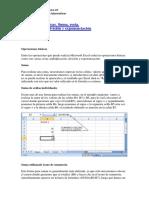 Operaciones Básicas de Excel