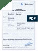 Certificado Actaris Bolivia