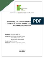 Relatório P2 - Viscosidade de Um Fluido