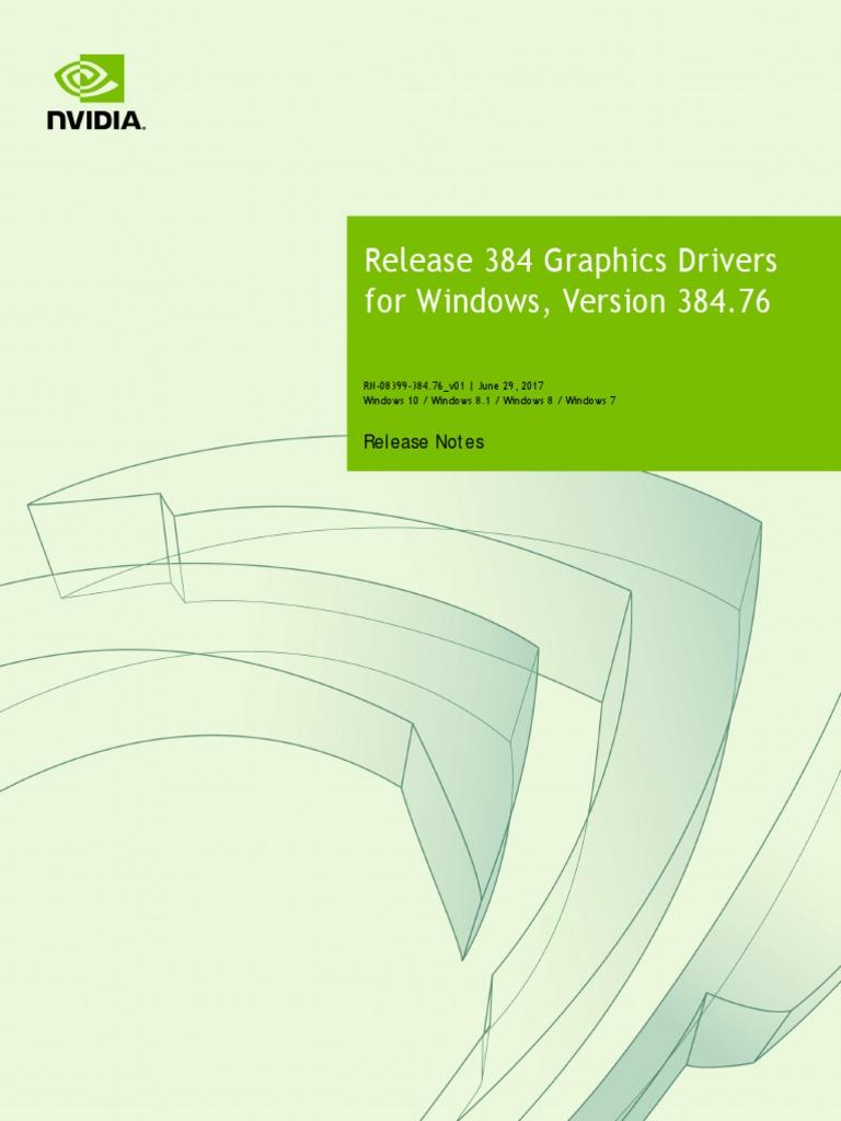 384 76 Win10 Win8 Win7 Desktop Release Notes | Graphics