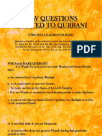 Few Questions Related to Qurbani