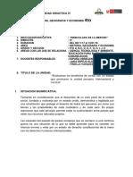 Unidad Didactica IV de 4to