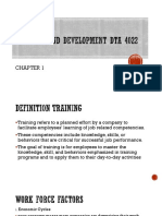 Chapter 1 Training and Development Dta 4022