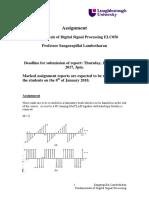 DSP Coursework Brief