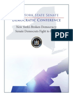 NYS Senate Democratic Conference Voting Reforms and Policy Report