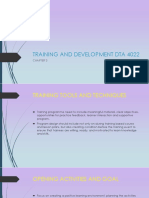 Chapter 3 Training and Development Dta 4022