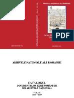 Catalogul Documentelor Tarii Romanesti Volumul IX