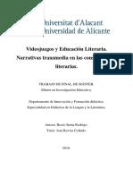 Videojuegos y Educacion Literaria Narrativas Transmed Serna Rodrigo Rocio