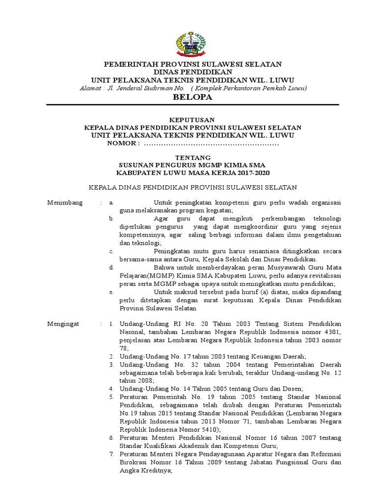 Kop Surat Dinas Pendidikan Provinsi Sulawesi Selatan ...