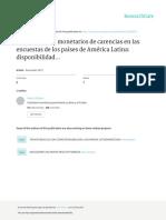 Indicadores No Monetarios de Carencia en Las Encucuestas de Los Paises de America Latina