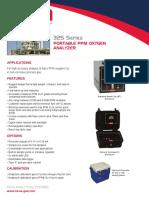325 Portable Trace O2 Analyzer Nova Analytical