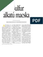 Dr. Pálinkás Imre_A Macskák Alkata_Sulfur