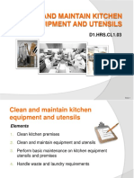 PPT Clean Maintain Kitchen Equipment Utensils Final