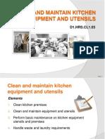 PPT Clean Maintain Kitchen Equipment Utensils Final