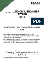 Emerging Civil Engineer Award 2018 Phase1