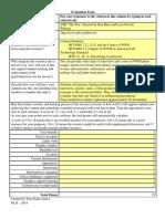 sjj - evaluation form