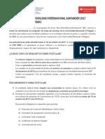 Convocatoria Beca Santander Movilidad Internacional 2018