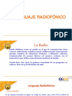 LENGUAJE RADIOFONICO
